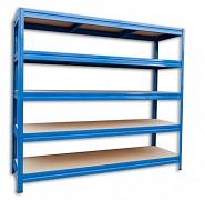 Regał metalowy Biedrax 60 x 160 x 180 cm, 5 półek - niebieski, nośność półki 200 kg