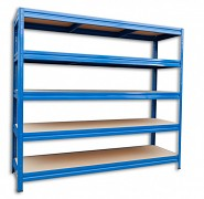 Regał metalowy Biedrax 60 x 240 x 180 cm, 5 półek - niebieski, nośność półki 200 kg