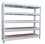 Regał metalowy Biedrax 60 x 240 x 180 cm, 5 półek - ocynk, nośność półki 200 kg