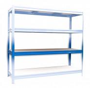 Kompletna półka do regału - regał metalowy, 60 x 200 cm - niebieski, nośność półki 200 kg