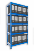 Regał archiwalny do segregatorów Biedrax 50 x 60 x 180 cm - 5 półek x 175 kg, niebieski