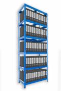 Regał archiwalny do segregatorów Biedrax 60 x 60 x 210 cm - 6 półek x 175 kg, niebieski