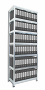 Regał archiwalny do segregatorów Biedrax 60 x 75 x 270 cm - 7 półek x 175 kg, ocynkowany