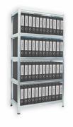 REGAŁ ARCHIWALNY DO SEGREGATORÓW BIEDRAX 50 X 75 X 180 CM - 5 PÓŁEK BIAŁYCH X 175 KG, OCYNKOWANY