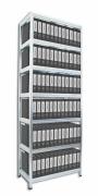 Regał archiwalny do segregatorów Biedrax 45 x 120 x 270 cm - 7 półek metalowych x 120 kg, ocynkowany