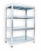 Regał ocynkowany Biedrax 50 x 75 x 120 cm - 4 półki metalowe x 120 kg