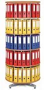 Regał obrotowy do archiwacji - 5 pięter, buk Biedrax AS4659