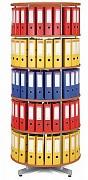 Regał obrotowy do archiwacji - 5 pięter, wiśnia Biedrax AS4669