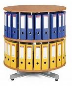 Regał obrotowy do archiwacji - 2 piętra, wiśnia Biedrax AS3944