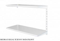 Regał ścienny wiszący dodatkowy 20 x 40 x 50 cm, 2 półki - kolor biały, półka szara