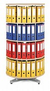 Regał obrotowy do archiwacji - 4 piętra, brzoza Biedrax AS4664
