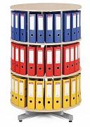 Regał obrotowy do archiwacji - 3 piętra, brzoza Biedrax AS4663