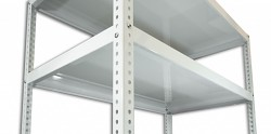 Półka - regał skręcany Biedrax 30 x 130 cm - biała