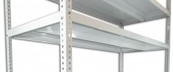 Półka - regał skręcany Biedrax 75 x 150 cm - biała