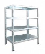 Regał metalowy Biedrax skręcany 30 x 100 x 100 cm, 4 półki - ocynk