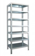 Regał metalowy Biedrax skręcany 40 x 130 x 250 cm, 7 półek - ocynk