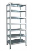 Regał metalowy Biedrax skręcany 50 x 100 x 300 cm, 7 półek - ocynk
