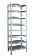 Regał metalowy Biedrax skręcany 60 x 100 x 300 cm, 8 półek - ocynk