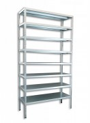 Regał metalowy Biedrax skręcany 75 x 100 x 250 cm, 8 półek - ocynk
