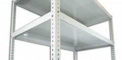Półka - regał skręcany do archiwum Biedrax 30 x 130 cm - biała