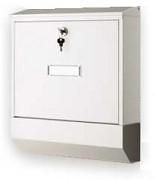 skrzynka pocztowa na listy, gazety, lakierowana biała - Biedrax SD6301