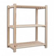 drewniany regał deskowy 30 x 75 x 90 cm, 3 półki