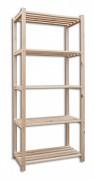 drewniany regał deskowy 30 x 75 x 170 cm, 5 półek