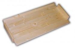 dodatkowe półki - drewniany regał z drewna litego 33,5 x 68 cm