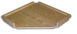dodatkowe półki - drewniany regał z drewna litego rogowy 60 x 60 cm