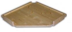 dodatkowe półki - drewniany regał z drewna litego rogowy 70 x 70 cm