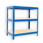 Regał metalowy Biedrax 35 x 75 x 90 cm - 3 półki x 275 kg, niebieski