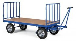 Duży wózek platformowy Biedrax PV1579 - metalowe ogrodzenie