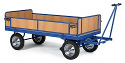Duży wózek platformowy Biedrax PV817 - ogrodzenie z płyty wiórowej