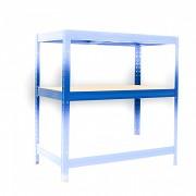 Kompletna półka do regału - regał metalowy, 35 x 75 cm - niebieski, nośność półki 275 kg