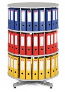 Regał obrotowy do archiwacji - 3 piętra, szary Biedrax AS4000