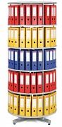 Regał obrotowy do archiwacji - 5 pięter, szary Biedrax AS4002
