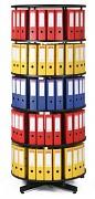 Regał obrotowy do archiwacji - 5 pięter, czarny Biedrax AS4006