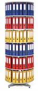 Regał obrotowy do archiwacji - 6 pięter, szary Biedrax AS4003
