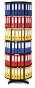 Regał obrotowy do archiwacji - 6 pięter, czarny Biedrax AS4007