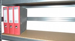 Tylna bariera 75 cm cynk, do metalowego regału przeciw wypadnięciu