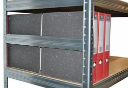 Boczna bariera 35 cm cynk, do metalowego regału przeciw wypadnięciu