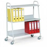 Wózek do biura na segregatory Biedrax VK3624S - kolor szary