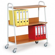 Wózek do biura na segregatory Biedrax VK3624T - kolor wiśniowy