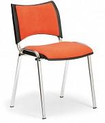 Tapicerowane krzesło konferencyjne, pomarańczowe Biedrax Z9106O