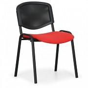 Tapicerowane krzesło konferencyjne, czerwone Biedrax Z9850CV