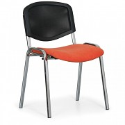 Tapicerowane krzesło konferencyjne, pomarańczowe Biedrax Z9854O