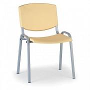 Plastikowe krzesło konferencyjne, żółte Biedrax Z8988ZL, szara podstawa