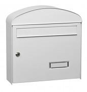 skrzynka pocztowa na listy, gazety, lakierowana biała - Biedrax SD6322B