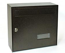 skrzynka pocztowa na listy, gazety, lakierowana brązowa - Biedrax SD6309H