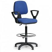 Krzesło biurowe Milano Biedrax Z9609M z pierścieniem nośnym i podłokietnikami